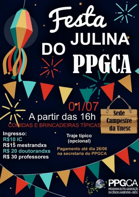 Festa julina do PPGCA